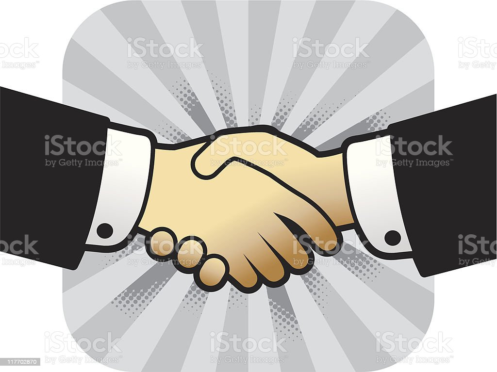 handshake - closing a deal royalty-free handshake closing a deal stock vector art & more images of achievement