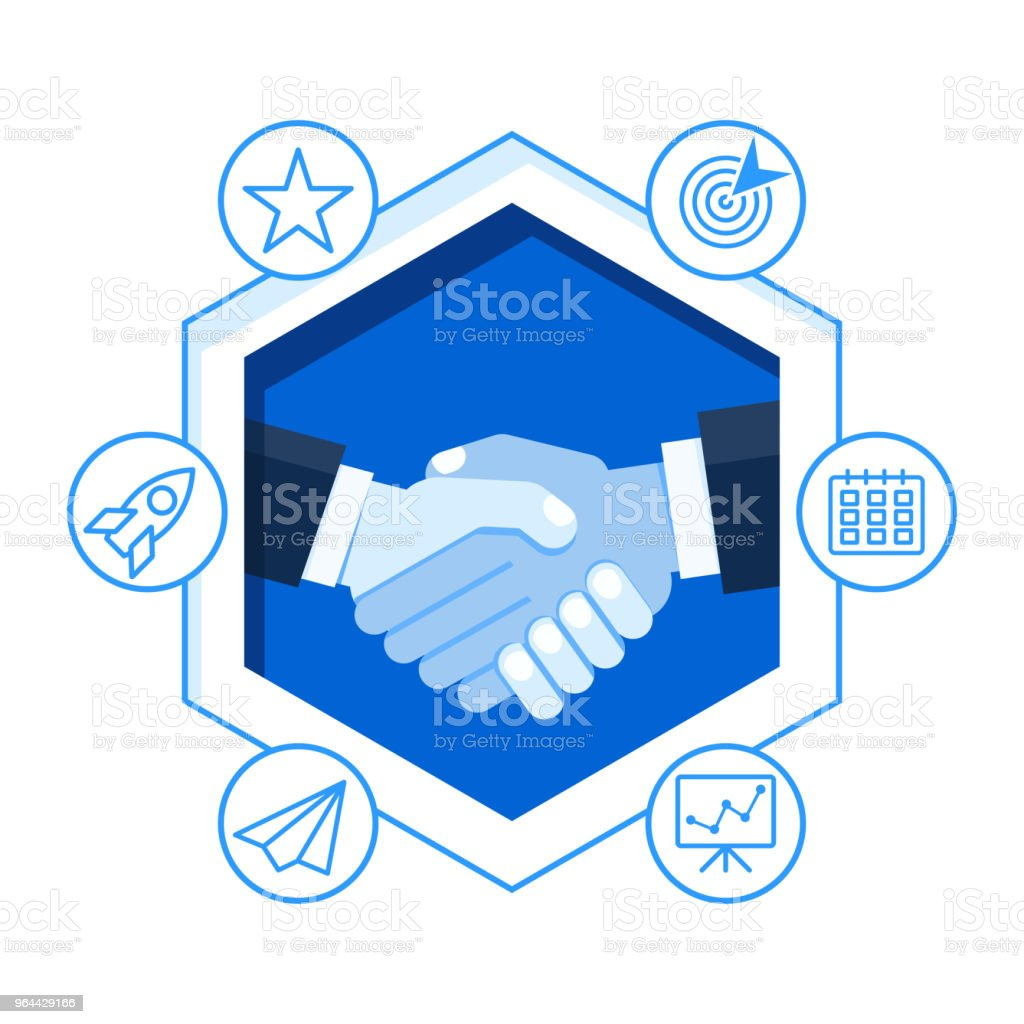 handshake concept paper cut - Royalty-free Abstract stock vector