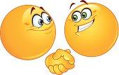 Handshake emoticons