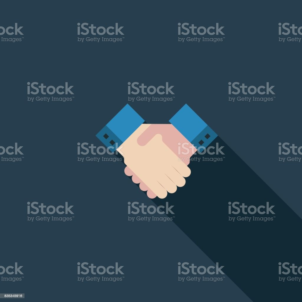 Handshake-flach-Symbol – Vektorgrafik