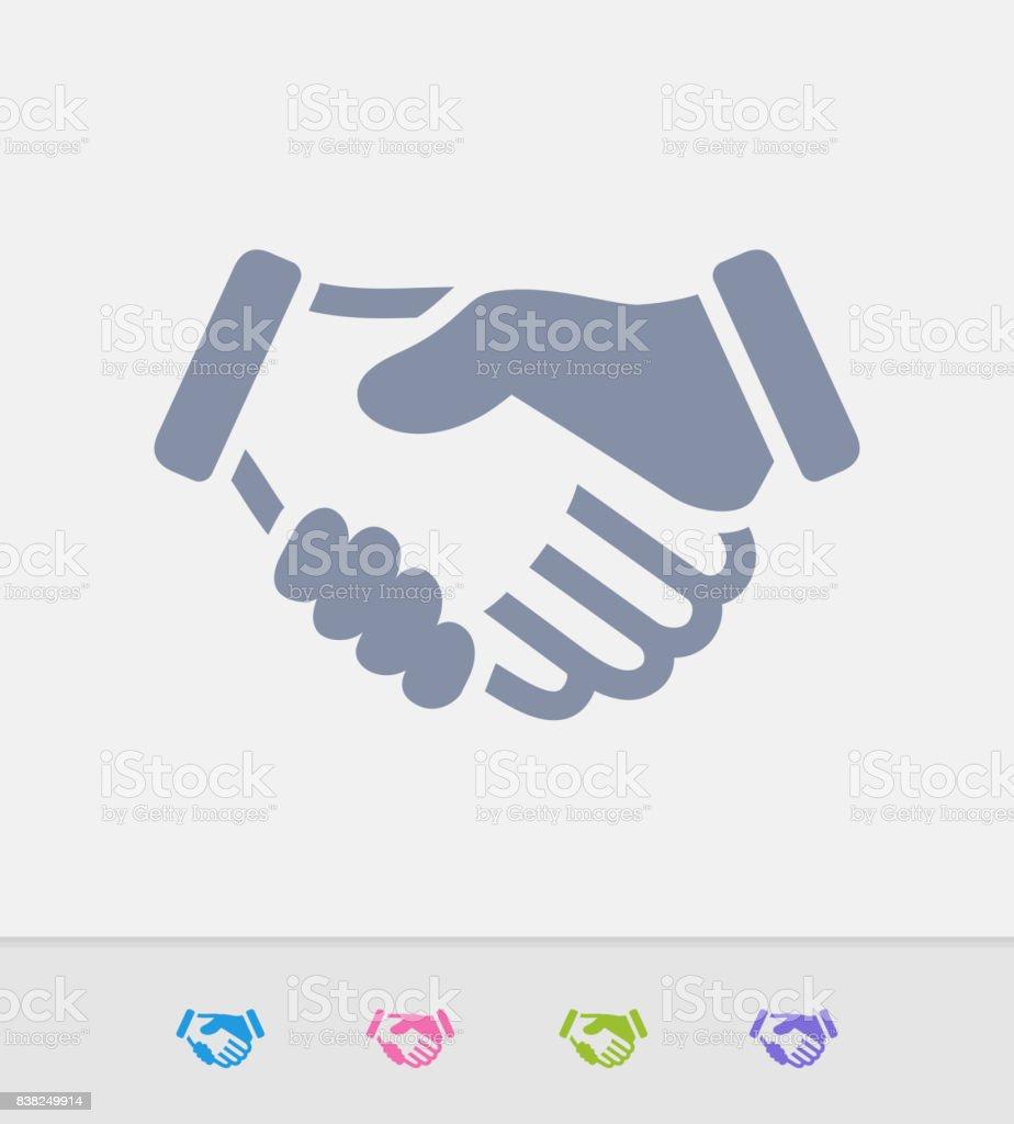 Handshake - Granite Icons vector art illustration