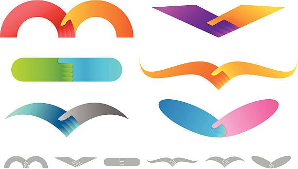 Handshake   horizontal design element vector art illustration