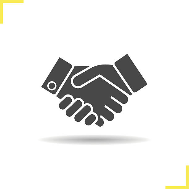 handshake icon - el sıkışmak stock illustrations