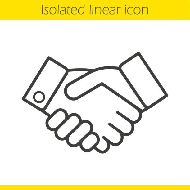 핸드셰이크 아이콘 - handshake stock illustrations