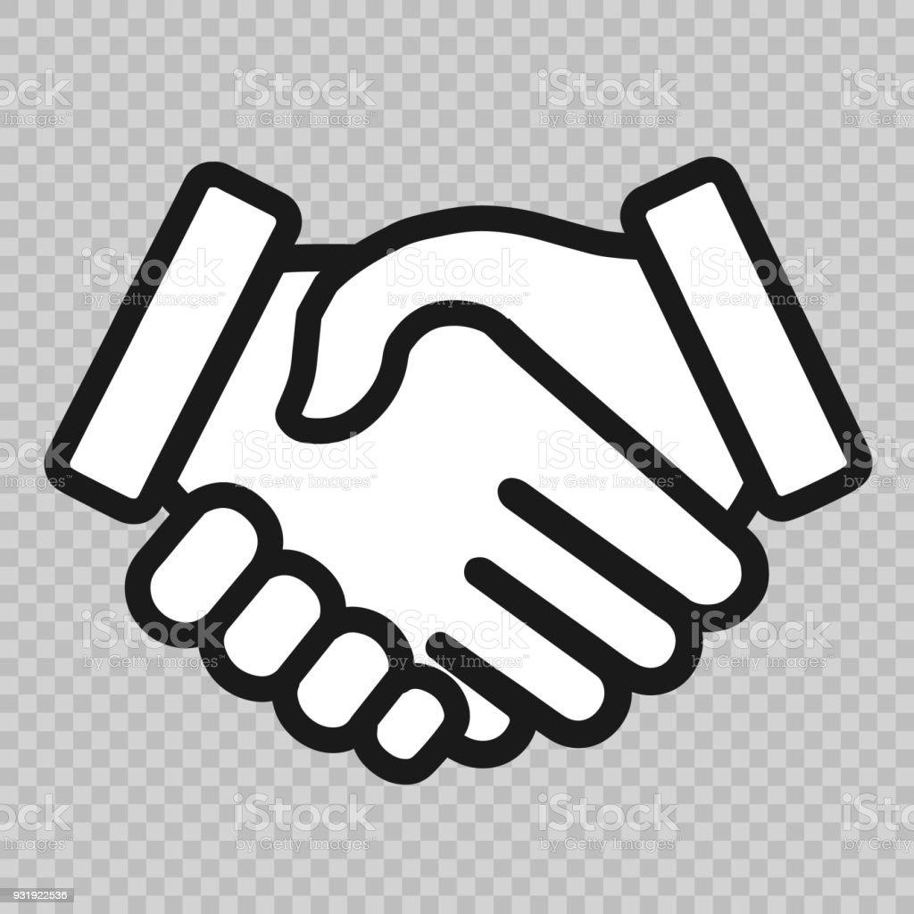 Poignée de main icône - Illustration vectorielle