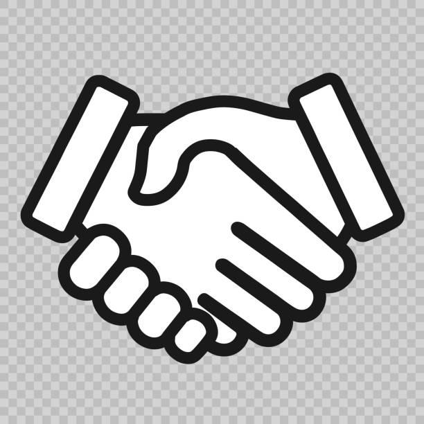핸드세이크 아이콘크기 - handshake stock illustrations