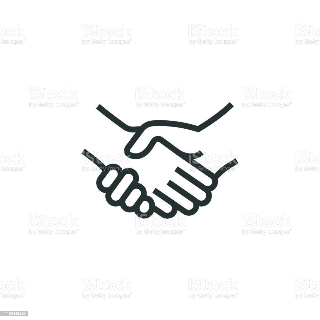 握手行圖示 - 免版稅一起圖庫向量圖形