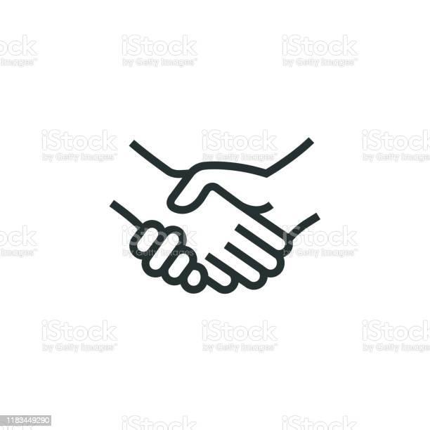 Handshakeregelpictogram Stockvectorkunst en meer beelden van Alleen mannen