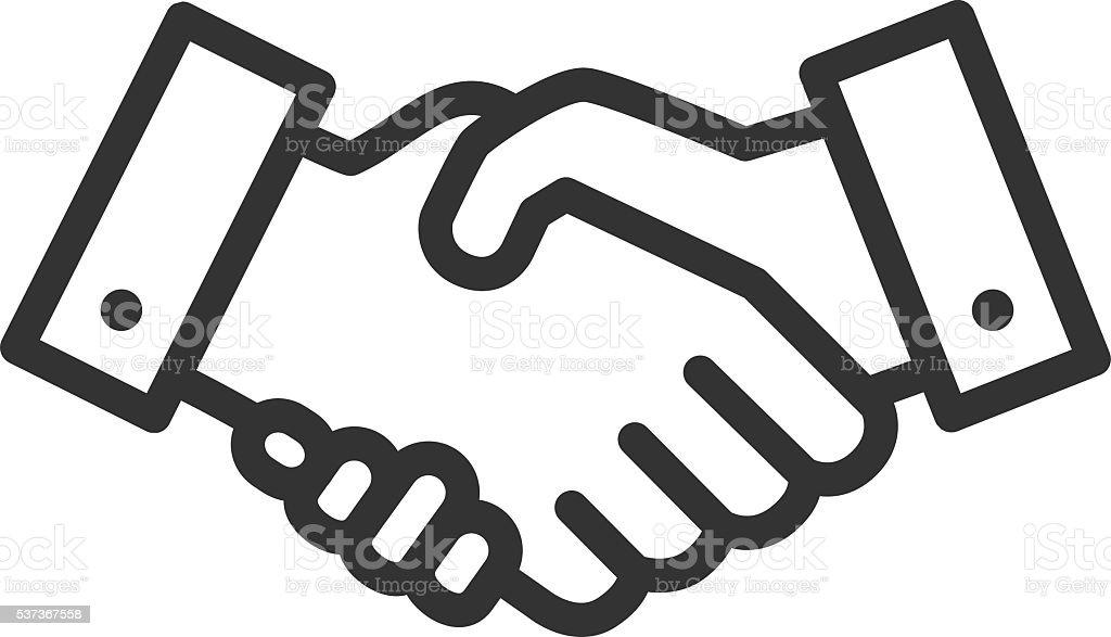 Handshake line icon vector art illustration