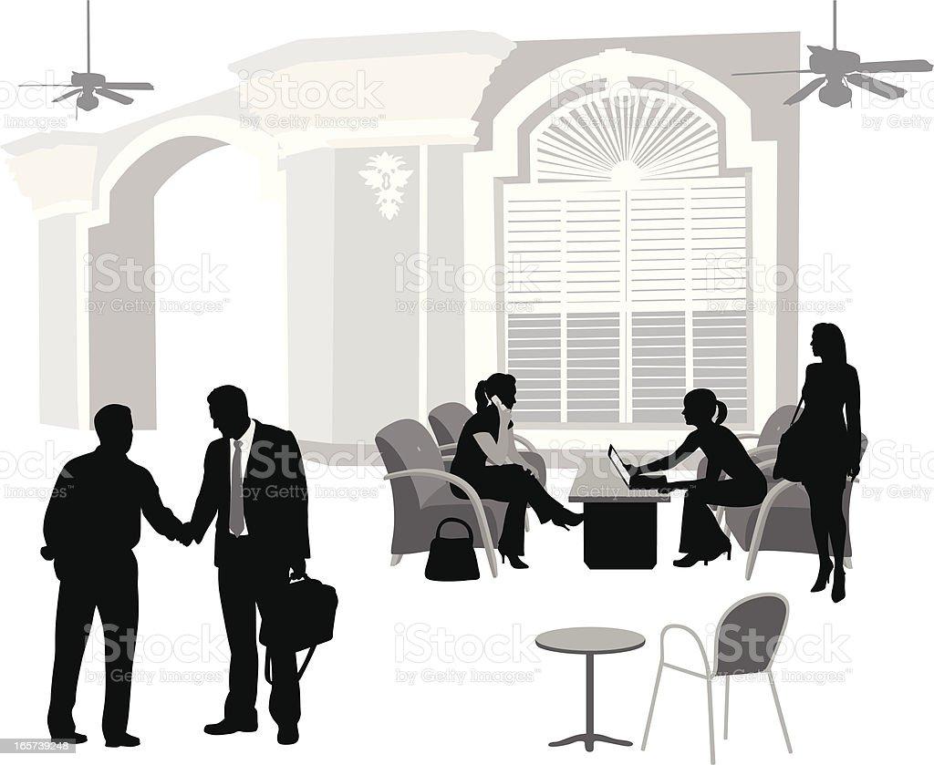 Handshake Meetings Vector Silhouette vector art illustration