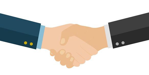 Handshake of business partners. Business handshake. Successful deal.
