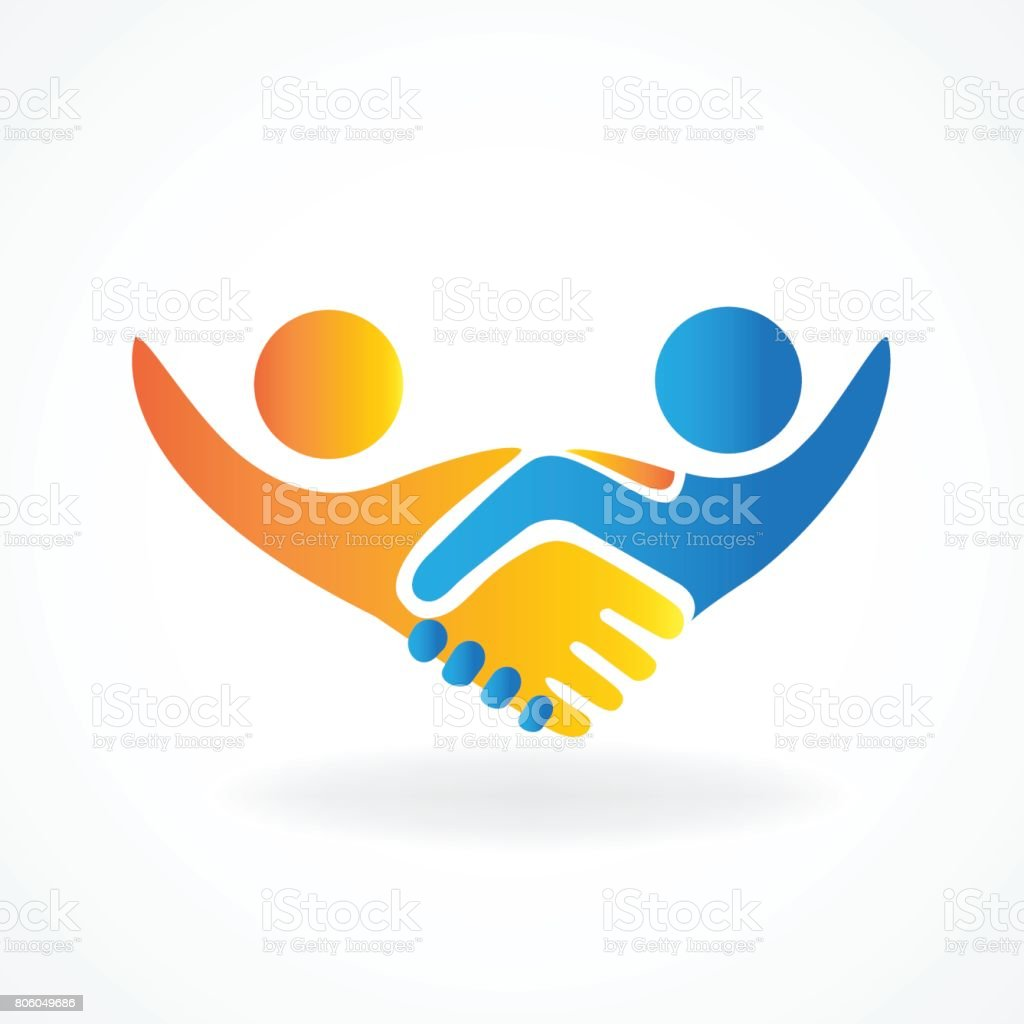 Handshake people in business vector icon design vector art illustration
