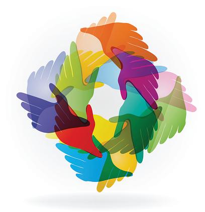 Handshake symbol logo vector design