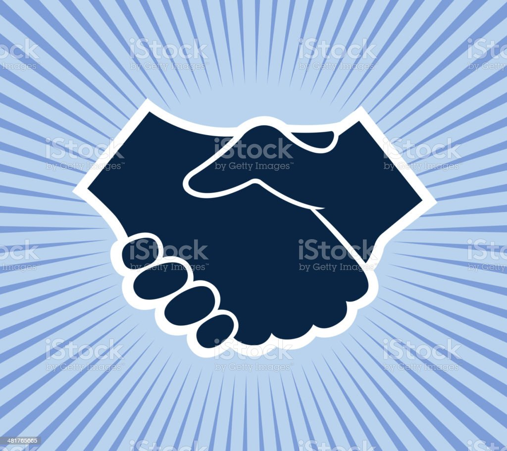 handshake symbol royalty-free stock vector art