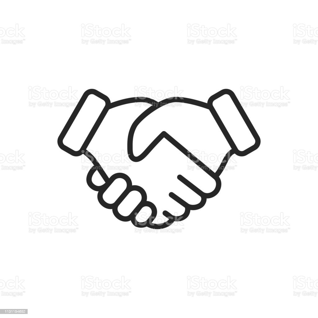 Handshake Thin Line Vector Icon. Editable Stroke. Pixel Perfect. For Mobile and Web. Handshake Outline Icon. Abstract stock vector