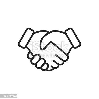 Handshake Outline Icon.