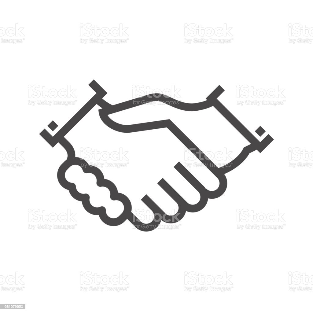 Handshake Thin Line Vector Icon royalty-free handshake thin line vector icon stock vector art & more images of adult