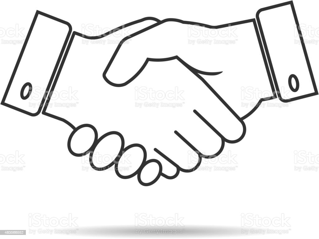 Handshake Vector Icon Stock Vector Art & More Images of ...
