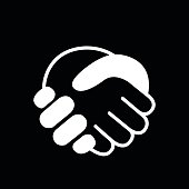 Handshake vector icon. Hands shaking symbol. Business deal symbol.