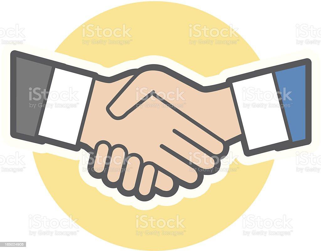 Handshake royalty-free handshake stock vector art & more images of achievement