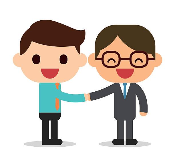 handshake - old man glasses cartoon stock illustrations, clip art, cartoons, & icons