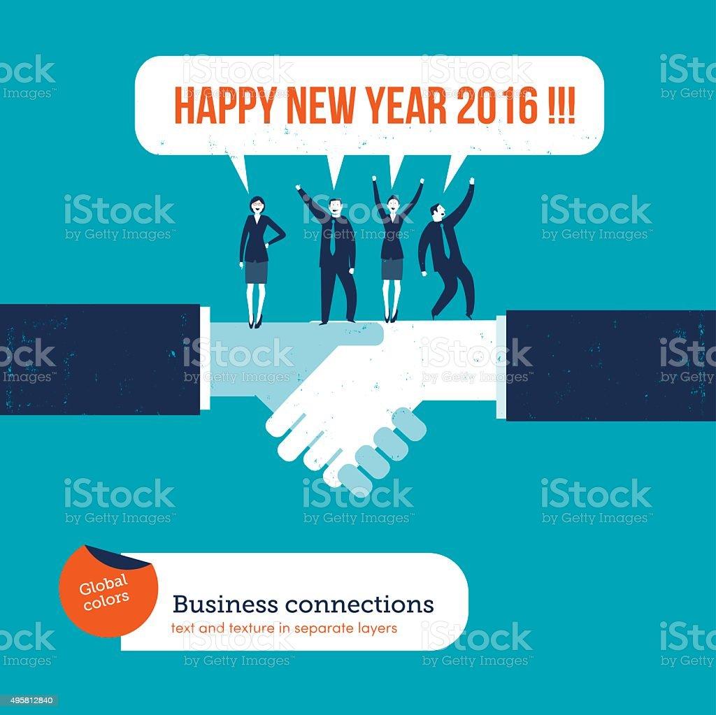 handshake with businesspeople saying happy new year 2016 royalty free handshake with businesspeople saying happy