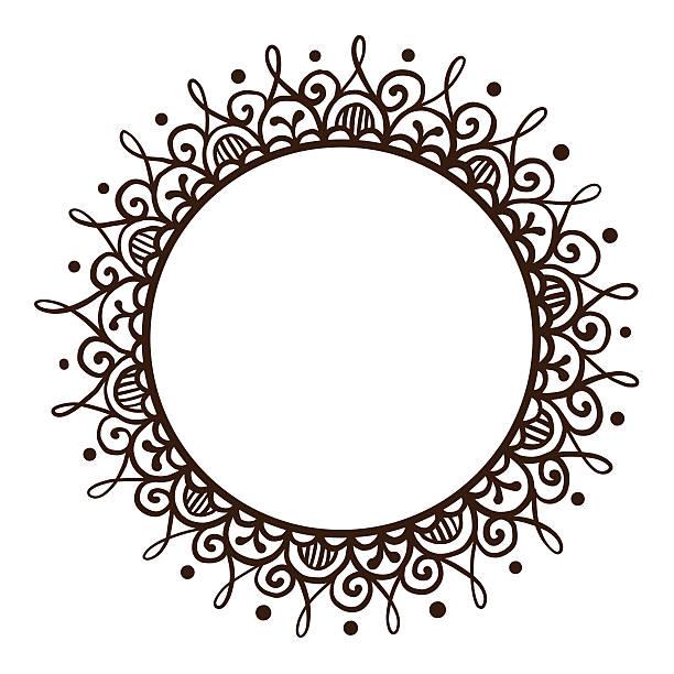 Handsketched mehndi frame - Illustration vectorielle