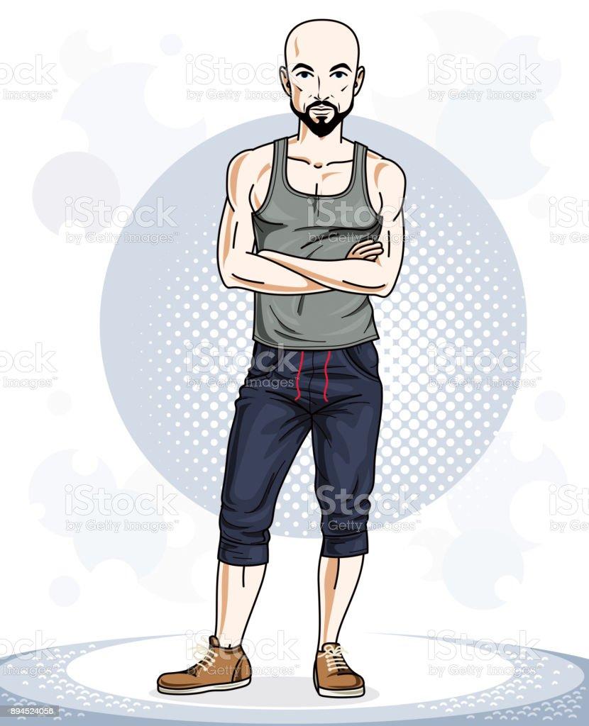 Young Man Standing Cartoon