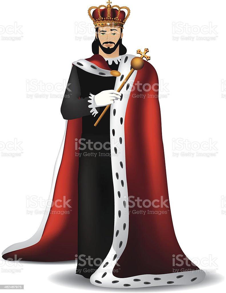 Handsome king. vector art illustration