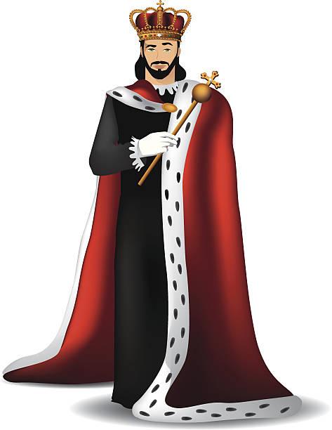 Handsome king. Handsome king. EPS 10 vector. ermine stock illustrations