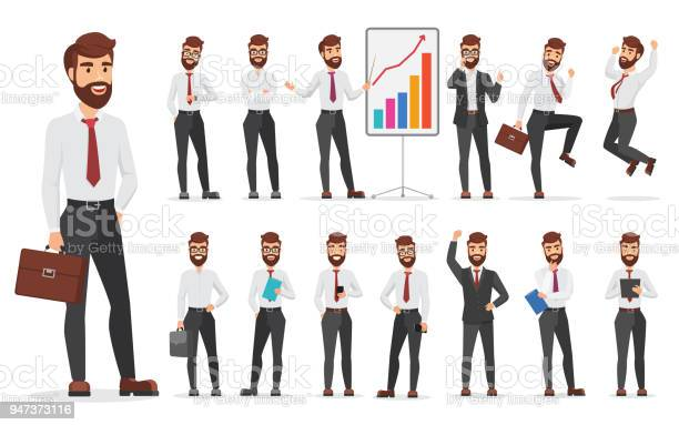 Handsome office businessman character different poses design vector vector id947373116?b=1&k=6&m=947373116&s=612x612&h=lf2cmvcfgoqq7t1abmqofbf10y9ky4o2joztvjlufm8=