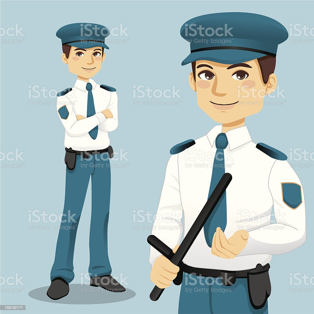 Royalty Free Security Guard Smiling Clip Art, Vector ...
