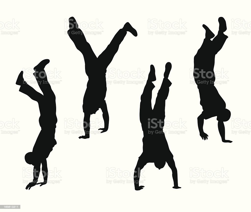 Handstand Vector Silhouette royalty-free handstand vector silhouette stock vector art & more images of activity