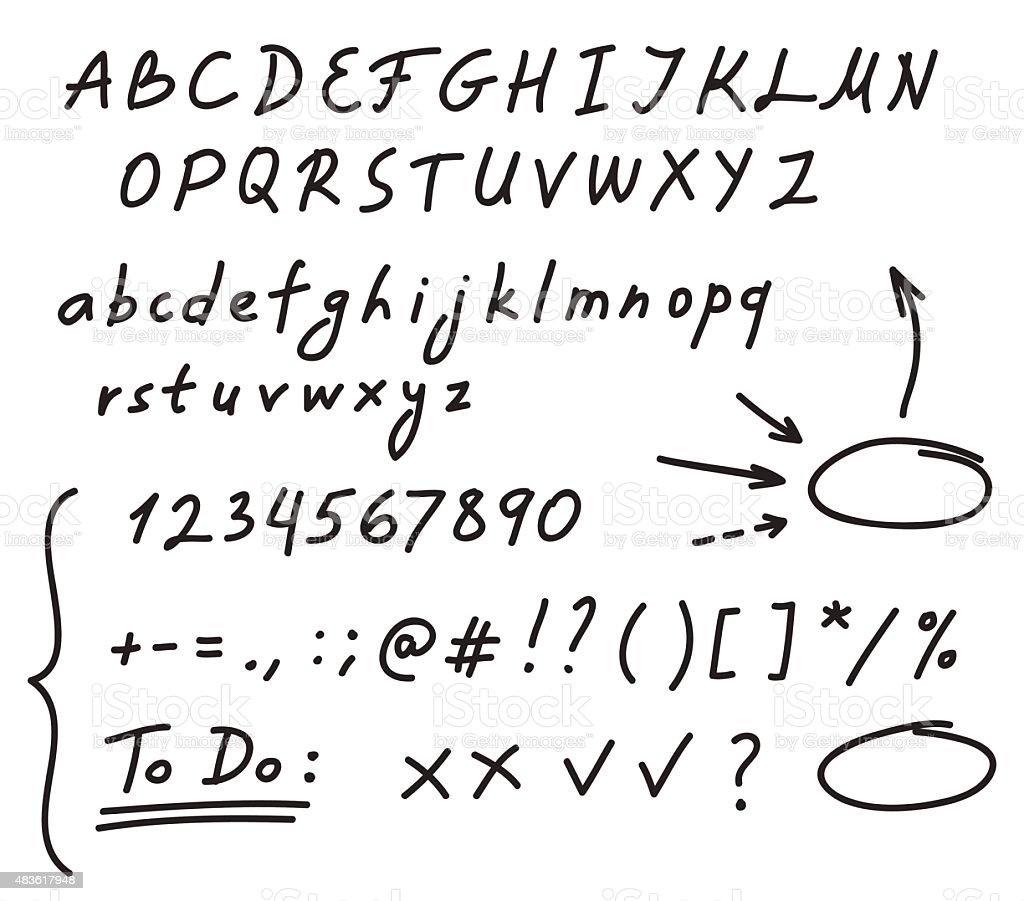 Pismo Ręczne Alfabet Stockowe Grafiki Wektorowe I Więcej