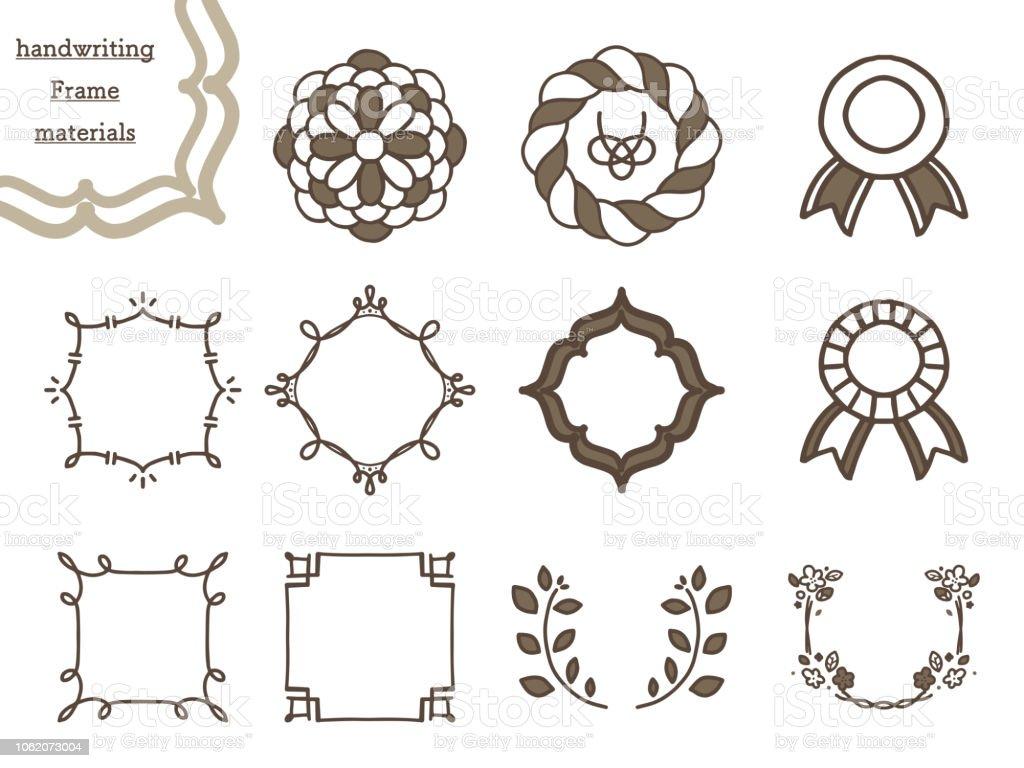 手書き炎デザイン素材のセット ベクターアートイラスト