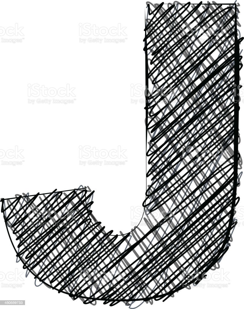 Handwriting letter J royalty-free handwriting letter j stock vector art & more images of alphabet