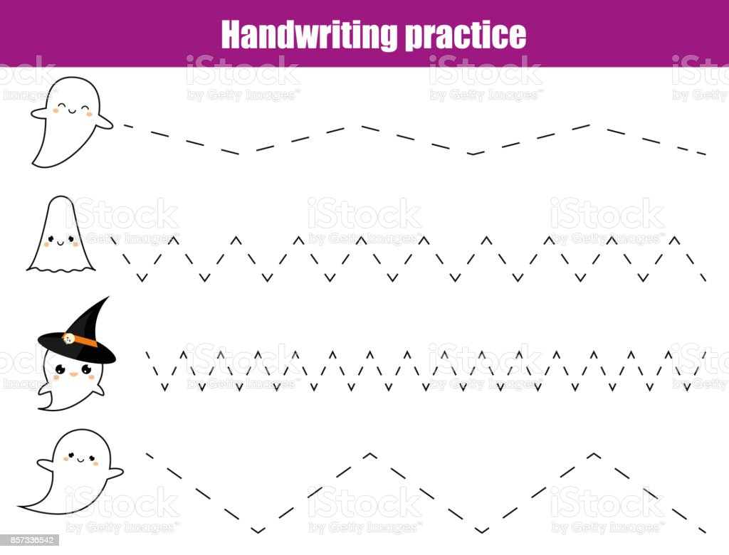 handwriting practice sheet educational children game printable worksheet for kids writing training printable - Painting Sheet For Kids