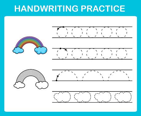 Handwriting practice sheet