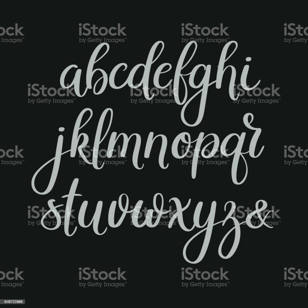 Handschriftliche Pinsel Briefe. ABC. Moderne Kalligraphie. Hand-Schriftzug-Vektor-Alphabet – Vektorgrafik