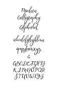 Handwritten Brush Letters. ABC. Modern Calligraphy. Hand Lettering Vector Alphabet