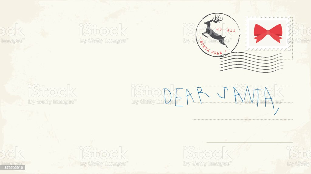 Handwritten letter to santa from child stock vector art more handwritten letter to santa from child royalty free handwritten letter to santa from child spiritdancerdesigns Choice Image