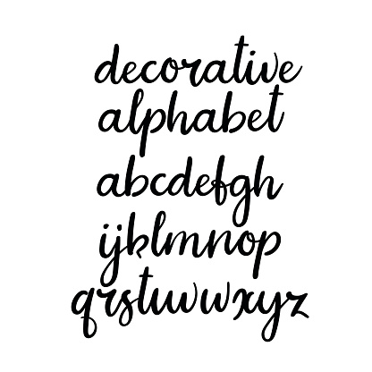 Handwritten Lowercase Letters Vector Handwritten Alphabet