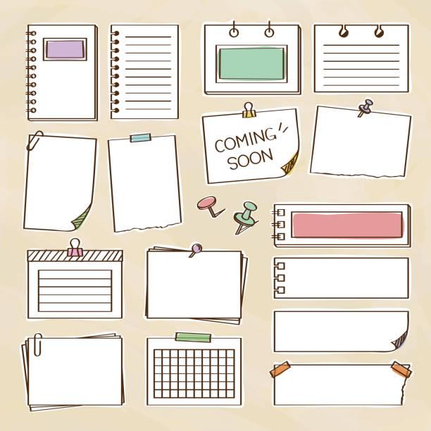 手書きのメモのセット - メモ点のイラスト素材/クリップアート素材/マンガ素材/アイコン素材