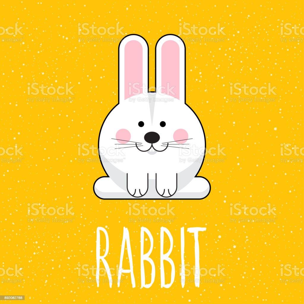 Ilustración De Mano Conejo Citar Y Dibujos Animados Infantil