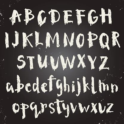 Handwritten script font.