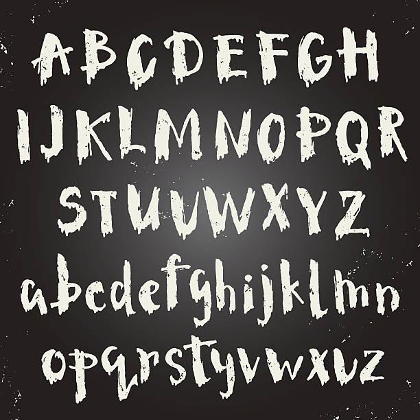 handwritten script font. - graffiti schriftarten stock-grafiken, -clipart, -cartoons und -symbole