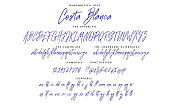 istock Handwritten skript font vector alphabet Costa Blanca set 1193499883