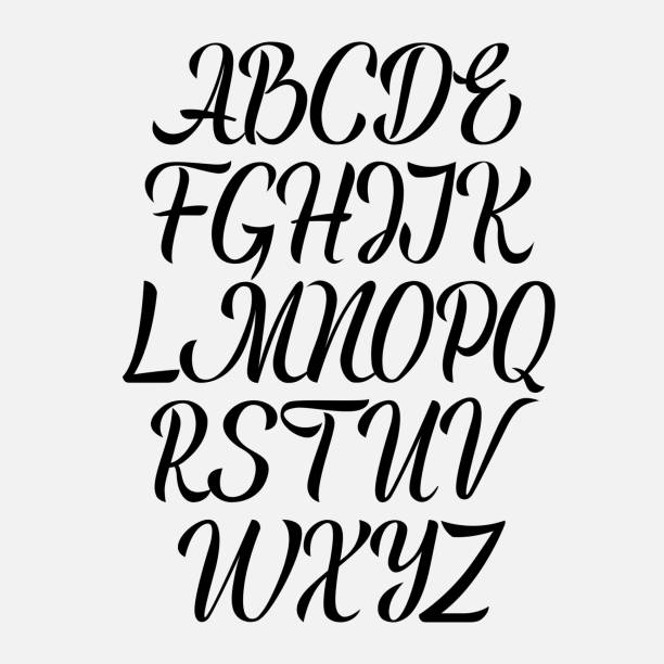 Best Drawing Of The Girly Alphabet Fonts Illustrations