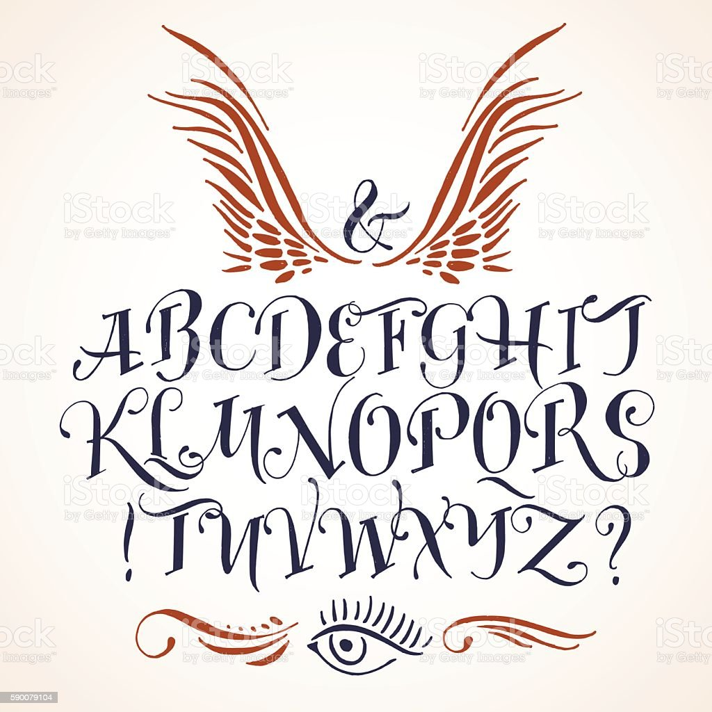 Handwritten vector tattoo alphabet stock vector art more images of handwritten vector tattoo alphabet royalty free handwritten vector tattoo alphabet stock vector art amp thecheapjerseys Image collections