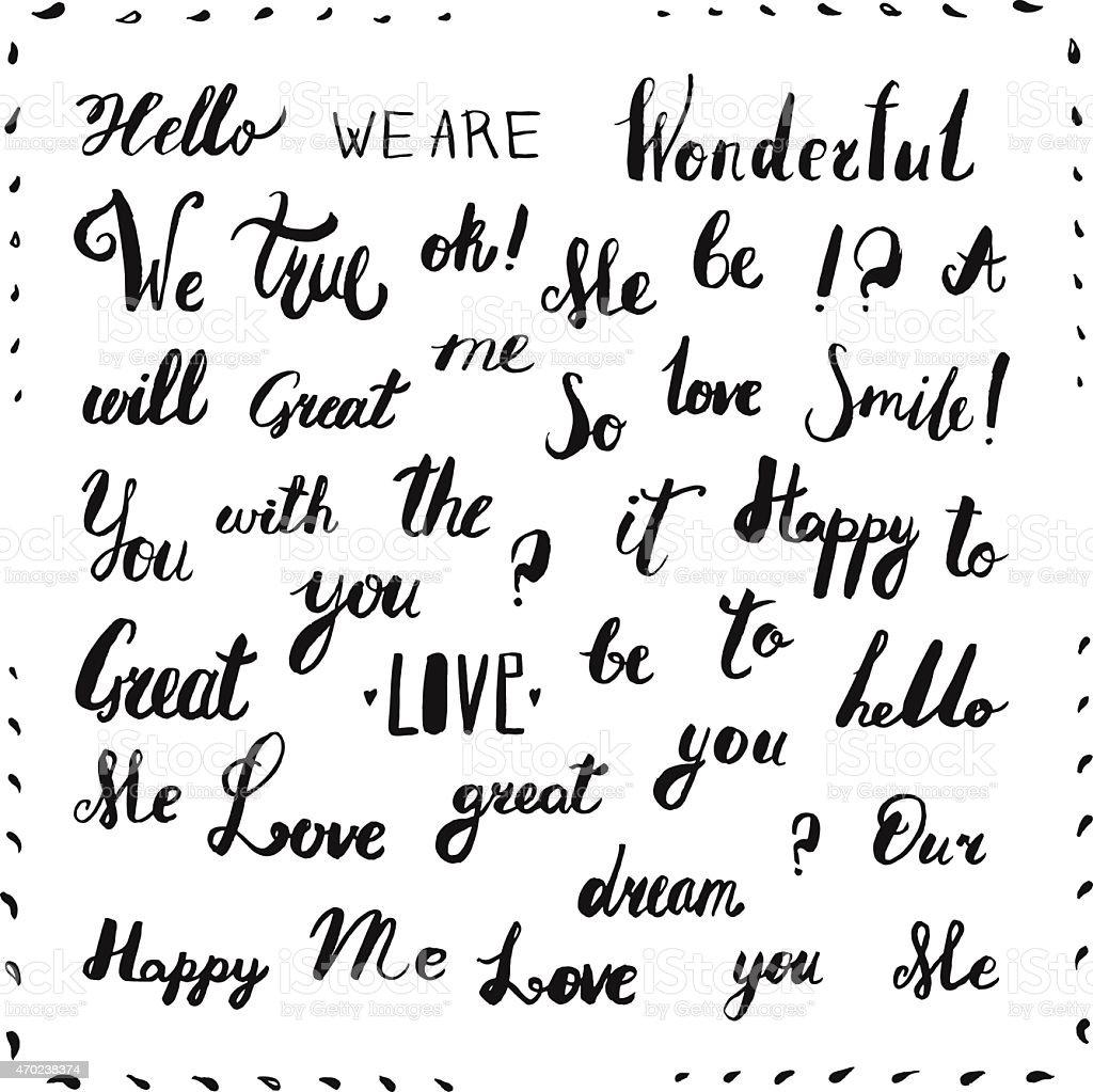 Scritte a mano vintage inchiostro parole nero lettere for Scritte vintage